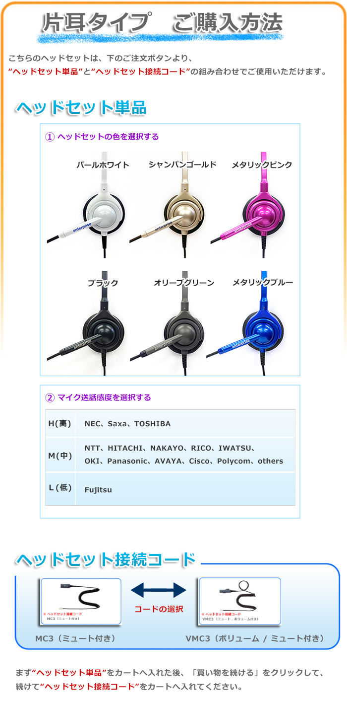 ヘッドセット片耳タイプ 購入方法
